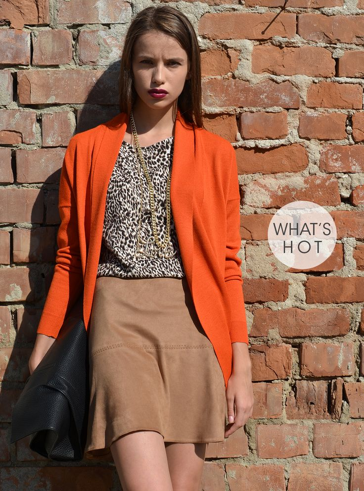Cardigan orange Toamna 2014 de la POEMA http://shop.poema.ro/poemashop