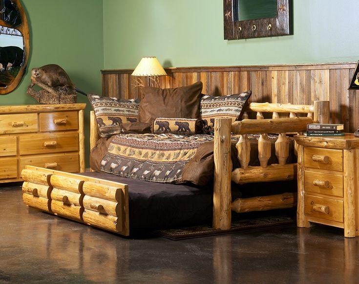 Cedar Lake Rustic Log Daybed  JHEs Log Furniture Place