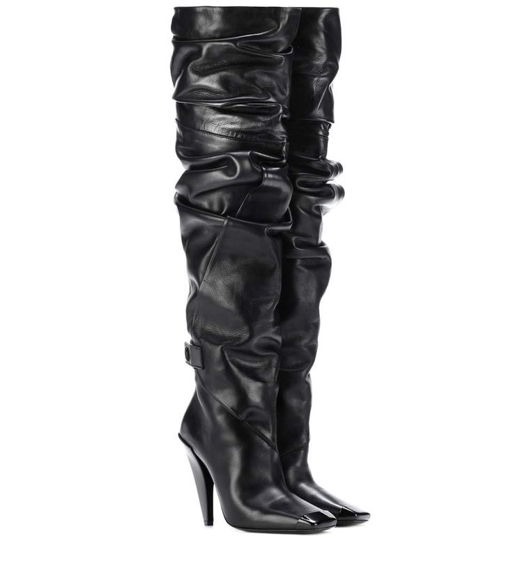 TOM FORD Over-the-knee leather boots. #tomford #shoes #