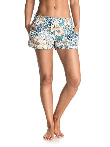 b6f7577770 Roxy Womens Oceanside Printed Beach Shorts Elastic Waist Marshmallow Beyond  Love M >>> Learn more by visiting the image link. (This is an affiliate  link) # ...