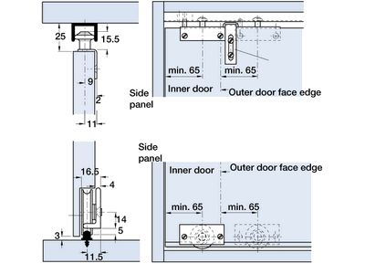 Rolluna Bottom Rolling Sliding Door Gear System Overview