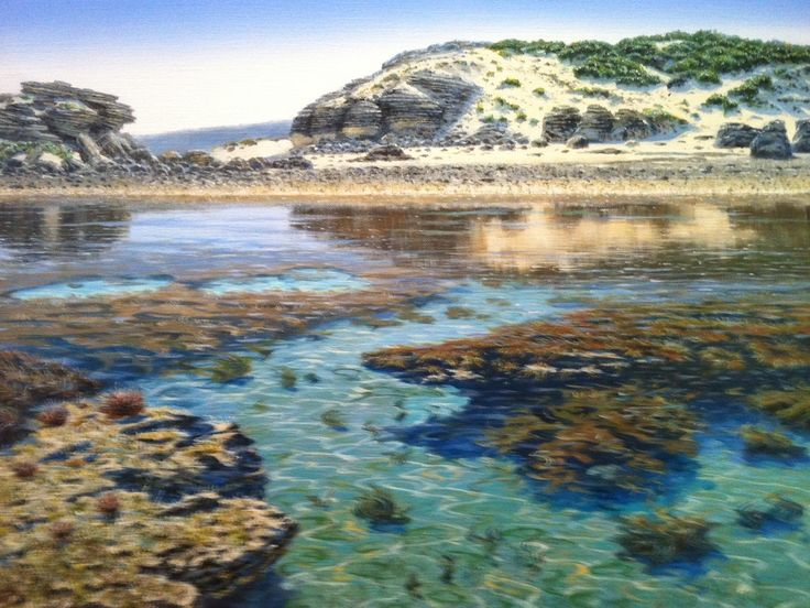 A Sam Broadhurst painting of the tide out, in Margaret River