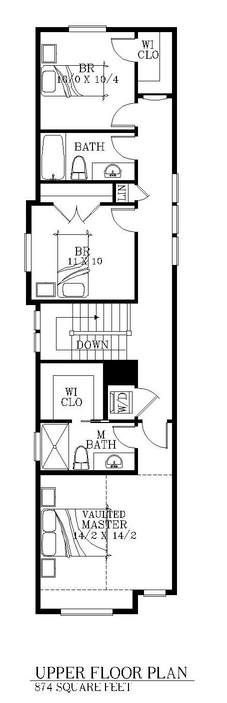 15 foot wide house 2 levels floorplans pinterest