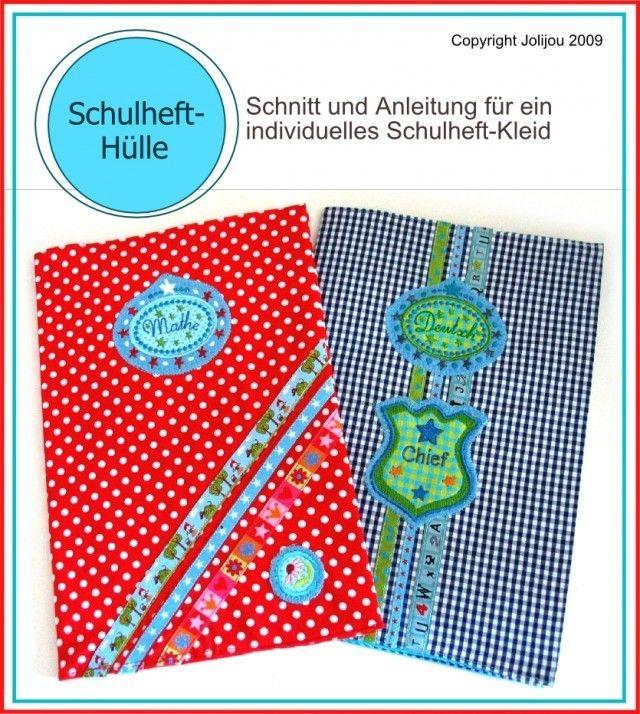 Schulheft-Hülle, Kreativ-Ebook als Geschenk - farbenmix Online-Shop - Schnittmuster, Anleitungen zum Nähen