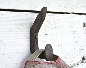 Railroad Spike Hook, Double Hook, Rustic Wall Hooks, Rustic Coat Rack,Rustic  Coat Hooks,Country Home Decor, Barn Decor,Shabby Chic Wall Hook
