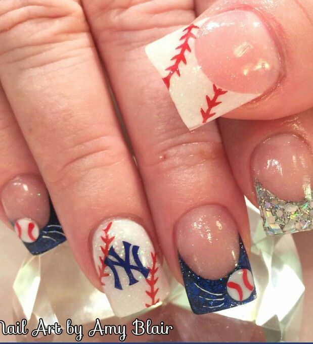 Baseball nails but s.f - 25+ Beautiful Baseball Nail Designs Ideas On Pinterest Softball