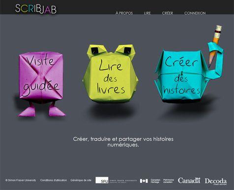 Application IPad pour créer et partager des histoires numériques dans 2 langues différentes |
