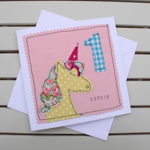 Childrens Unicorn Personalised Birthday Card Handmade Etsy Unicorn Birthday Cards Birthday Greetings For Kids 60th Birthday Cards