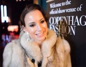 Claudia Rex i Kopenhagen Fur Pels Jakke
