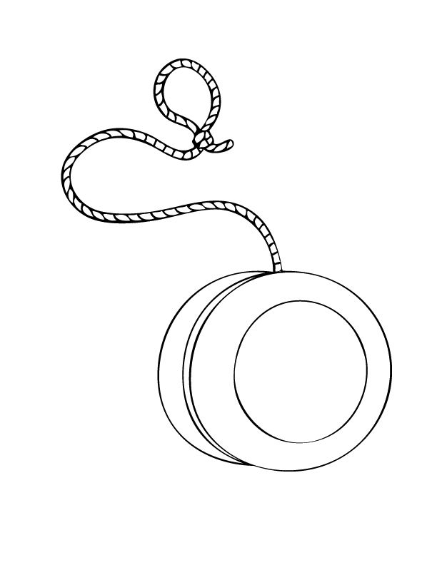 Yoyo Printable Coloring Pages Coloring Page Of A Yo Yo In Coloring Style Drawing And Coloring Pages For Kids Coloring Pages Printable Coloring Pages