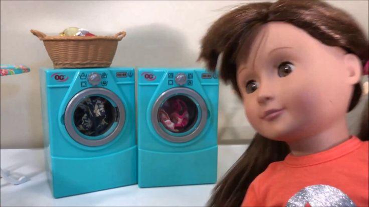 Lavadora e secadora de roupas - Boneca Our Generation