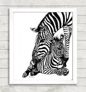 Mother-and-Baby-Zebra-Print-zebra-art-nursery-prints-nursery-art-mother-baby