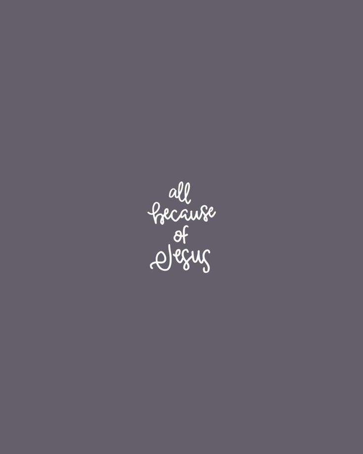 All Because Of Jesus. Design by @joyfulpine