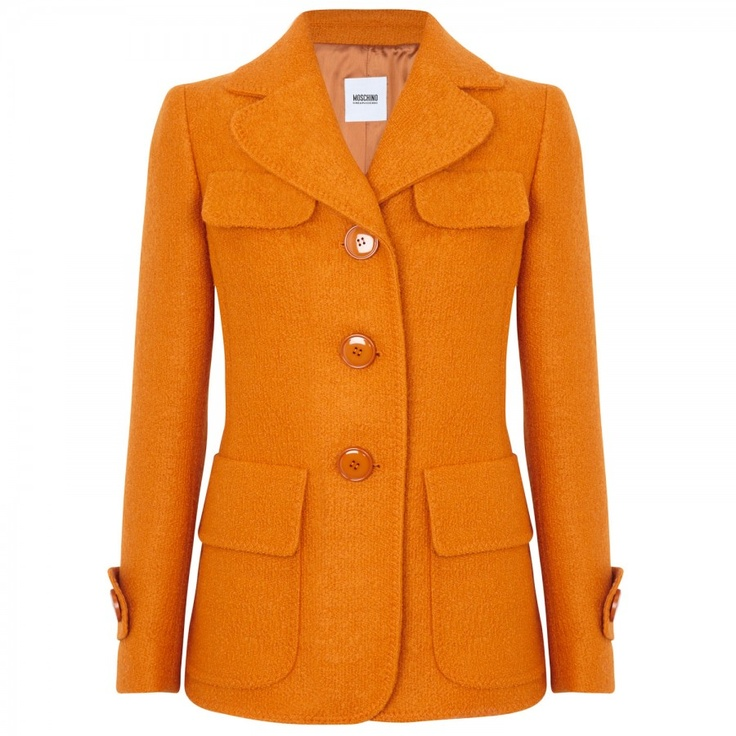 Harvey Nichols: Love this orange coat!!!!!
