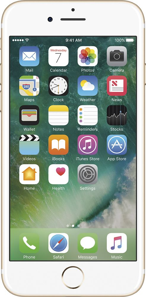 Apple - Geek Squad Refurbished iPhone 7 32GB - Gold, GSRF-MN8J2LL/A