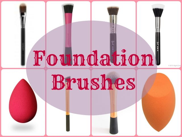 Makeup Brush Guide: Foundation Brushes. A makeup brush guide to learn about the various types of foundation brushes available and how to use them with various formulas