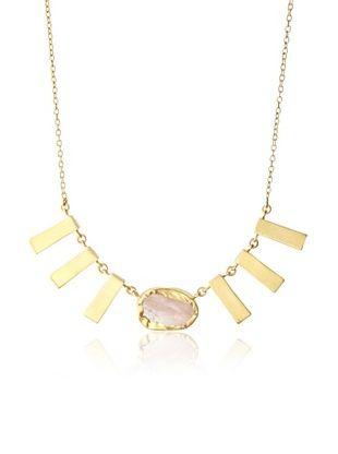 68% OFF Zariin Artsy Chic Rose Quartz Necklace