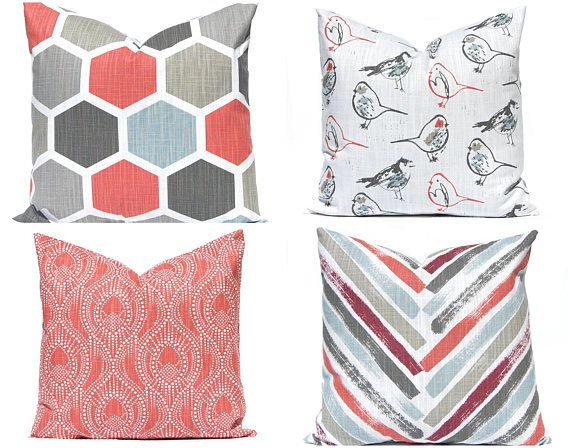 Covers for Throw Pillows  - Sofa Pillow Covers - Red Pillow Shams -Designer Cushion Covers - Decorative Throw Pillow Covers - Pillowcase