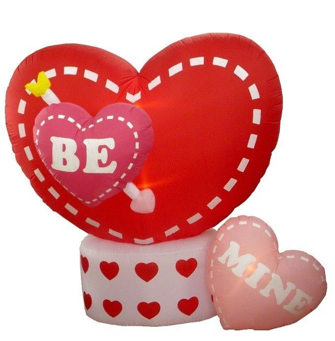 Valentine s day inflatable animated heart air blown