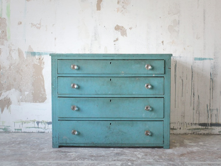 Vintage FourDrawer Dresser in Turquoise by jerseyicecreamco, $325.00Furniture Inspiration, Decor Design, Antiques Furniture, Vintage Dressers, Turquoise Dressers,  Commode, Design Bedrooms, Vintage Turquoise, Blue Dressers