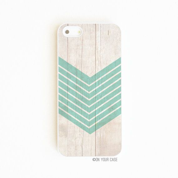ETSY _ iPhone 5 Case. iPhone 5S Case. Wood Geometric Teal iPhone5 Case €13,34