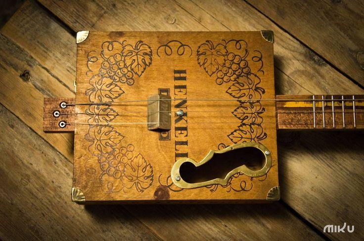 Miku cigar box guitar #0085
