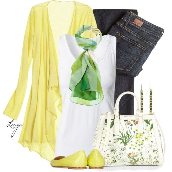 """""""Yellow and Green for Spring"""" by lagu on Polyvore"""