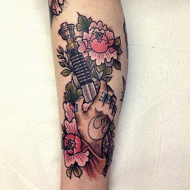 star wars lightsaber tattoo-25
