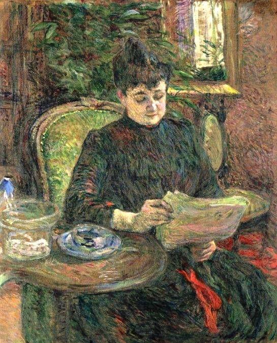 Henri de Toulouse-Lautrec - Madame Aline Gilbert, 1887. Oil on canvas