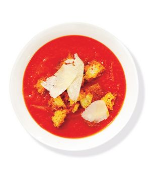 Tomato Soup With Parmesan and Croutons Recipe