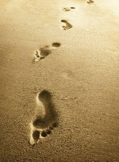 stopy v piesku... nostalgia