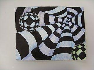 Op Art! I find Op Art makes for great mini project when students are done with other projects.  They are easy to explain, easy to do, and keep the kids interest!