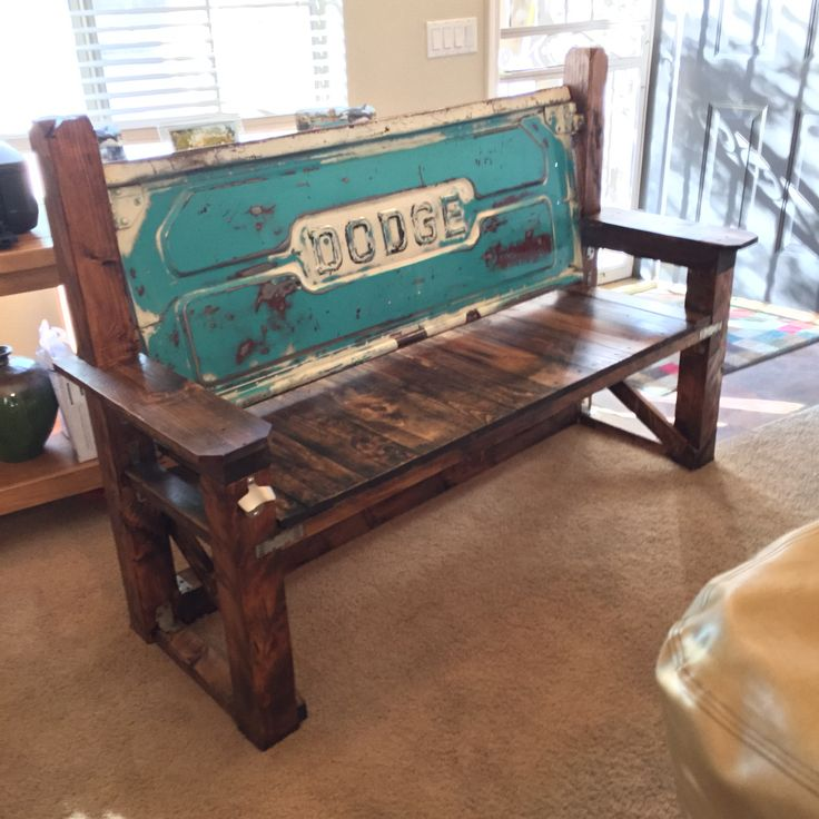 Custom Dodge Tailgate Bench. All Hand Made, The Tailgate Is From A Mid 60u0027s