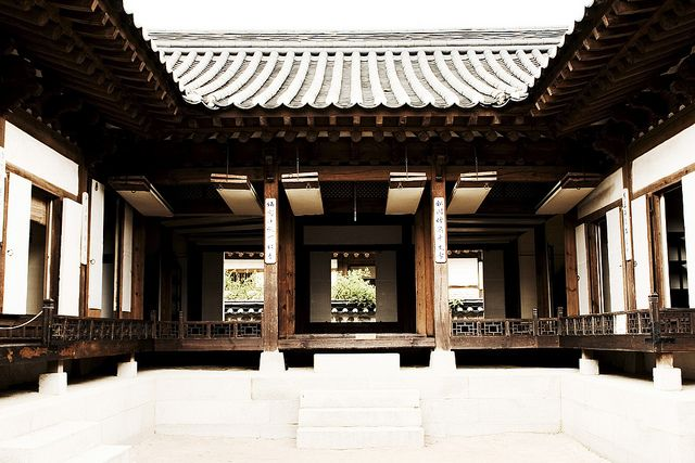 Hanok, an old traditional korean house