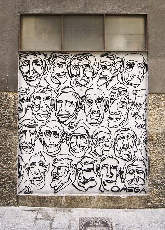 Ruta street art Valencia. CaminArt. Arte urbano. Omega