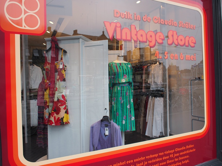 Window display from our temporary vintage store.