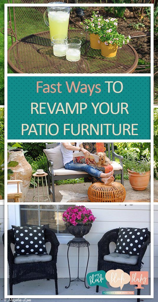 Fast Ways to Revamp Your Patio Furniture| Revamp Your Patio Furniture, Patio Furniture DIYs, DIY Patio Furniture, Patio Furniture Projects, Easy Patio Furntiure Projects, Simple Outdoor Projects, Outdoor Furniture Projects, Popular Pin