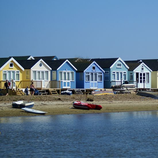 Beach huts much sought after in the Christchurch area of Dorset. Photograph: Visit Christchurch