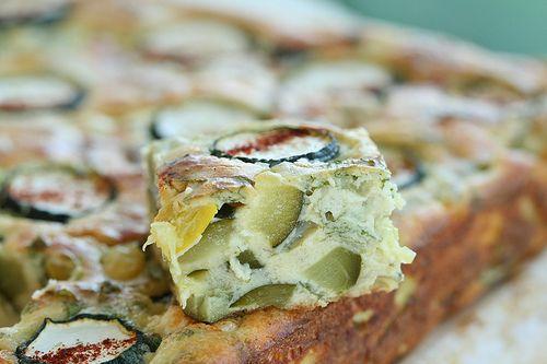 Tortiera di zucchine in agrodolce