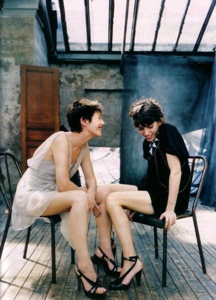 Lou Doillon and Jane Birkin
