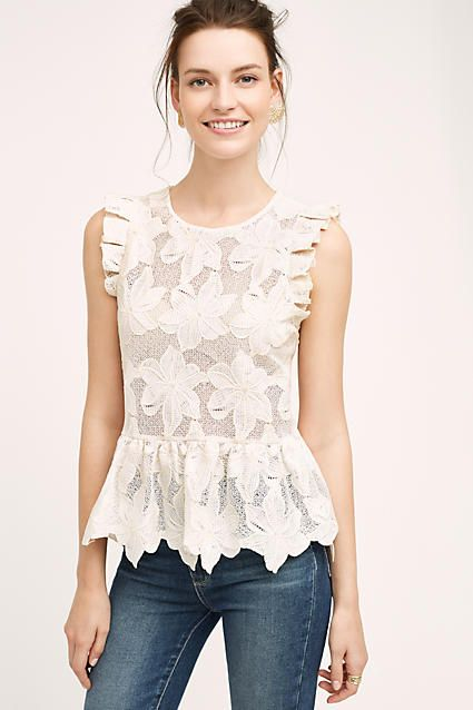 Adoria Ruffled Top | Anthropologie