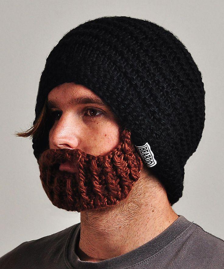 Beardo Black Hat & Brown Beard - Adult   zulily