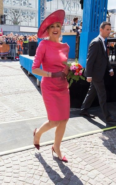 Queen Maxima of The Netherlands participates in King's Day celebrations on April 27, 2015 in Dordrecht, Netherlands.
