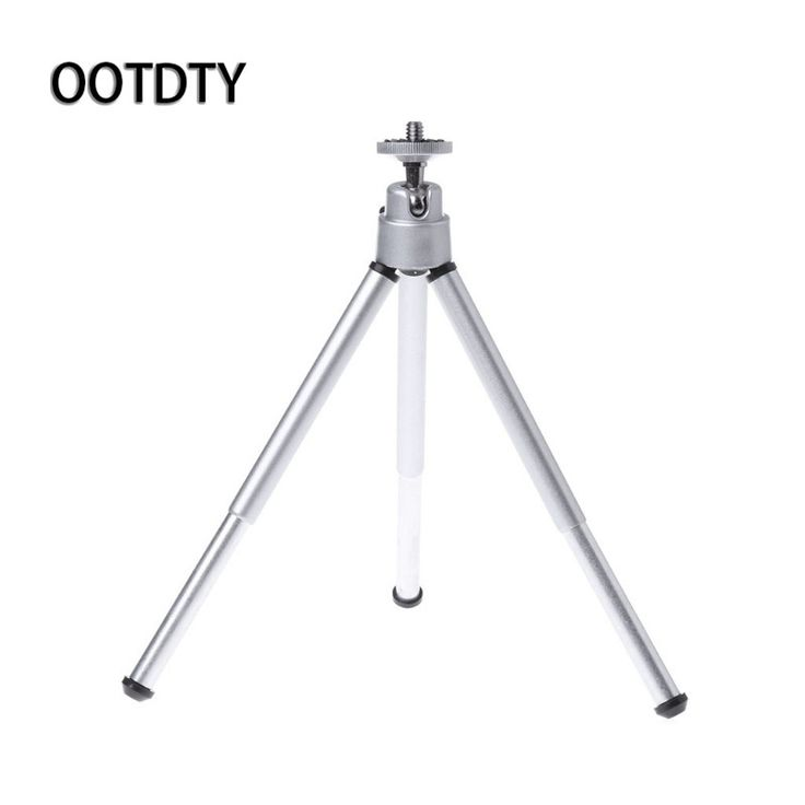 OOTDTY Camera Stand Tripod Silver Universal Mini Flexible Tripod Stand for Canon for Nikon Digital Cameras. Click visit to buy #tripod