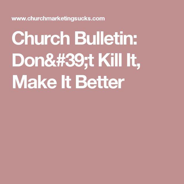 how to make a church bulletin