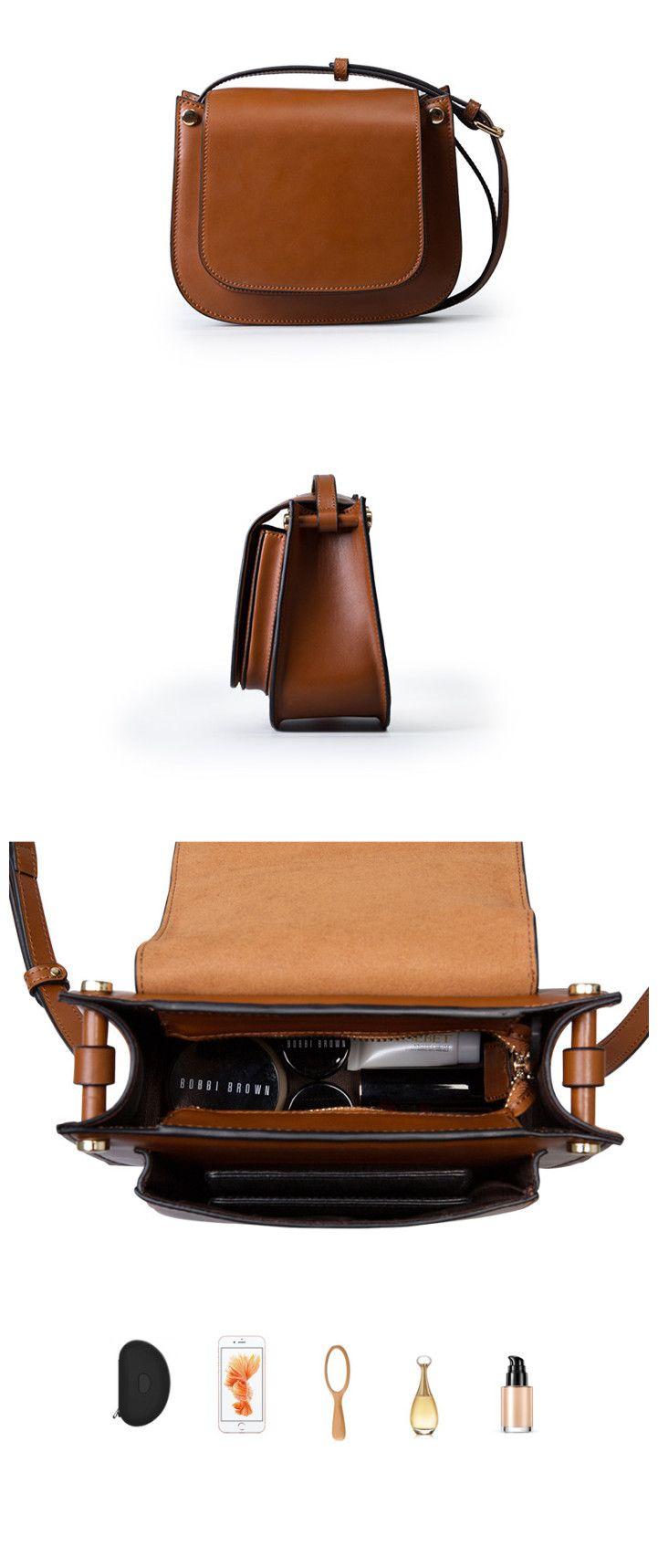 Women Leather Saddle Mini Handbag