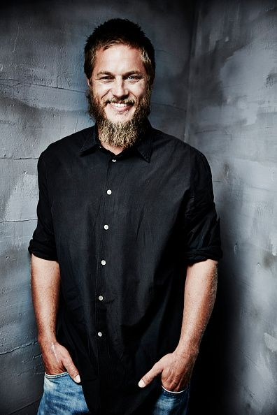 Actor Travis Fimmel poses for a portrait during the Winter TCA panel for 'Vikings' at the Langham Huntington Hotel Spa on January 7 2015 in Pasadena...