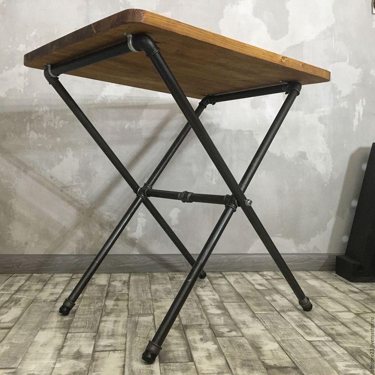 Купить Складной стол TEXAS. - бежевый, стол, складной стол, стол из труб, мебель из металла