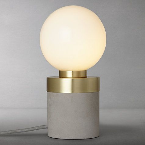 Buy Design Project by John Lewis No.046 Lamp, Opal Glass/Concrete Online at johnlewis.com