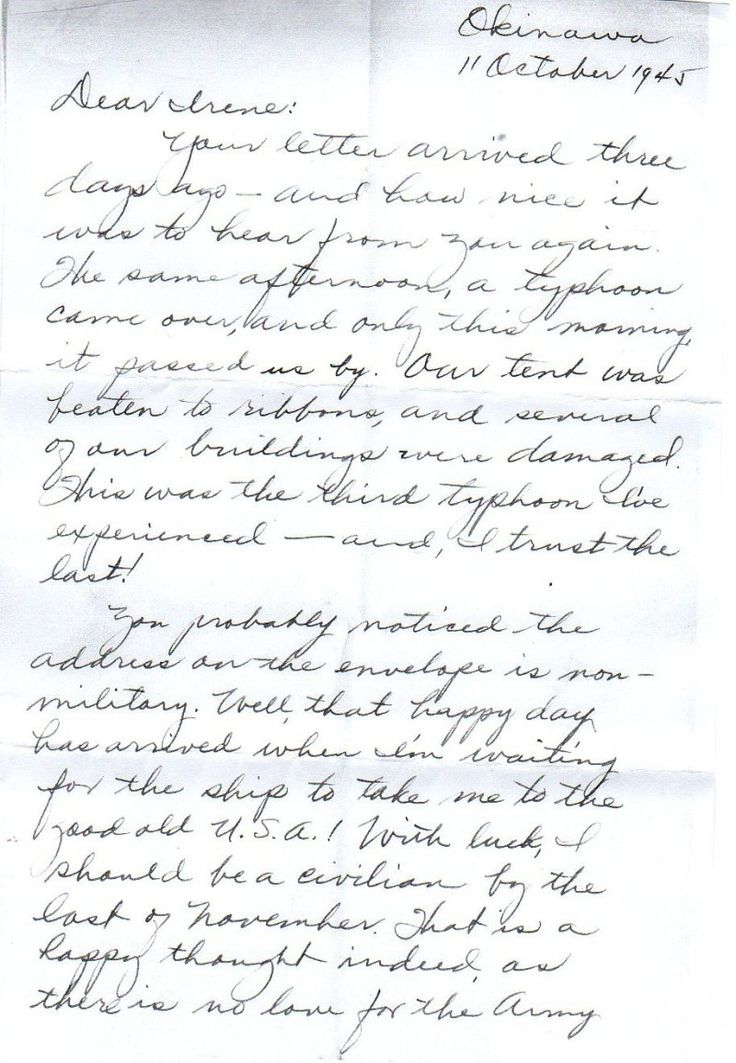 Soldiers Last Letter.The Last Letter From A Wwii Pen Pal 1945 A Letter From An